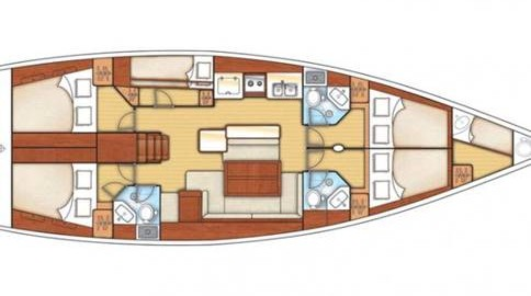 perfecto check-in, mapa interior barco