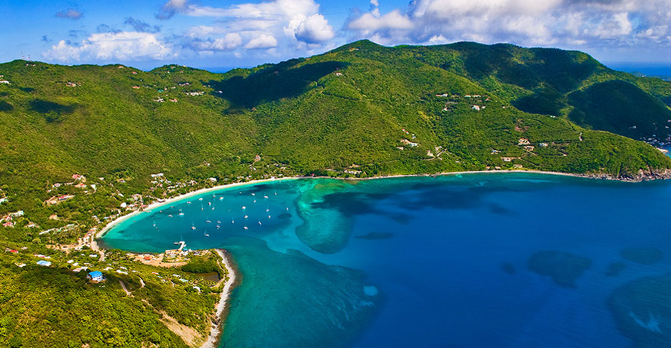Segelroute auf den British Virgin Islands