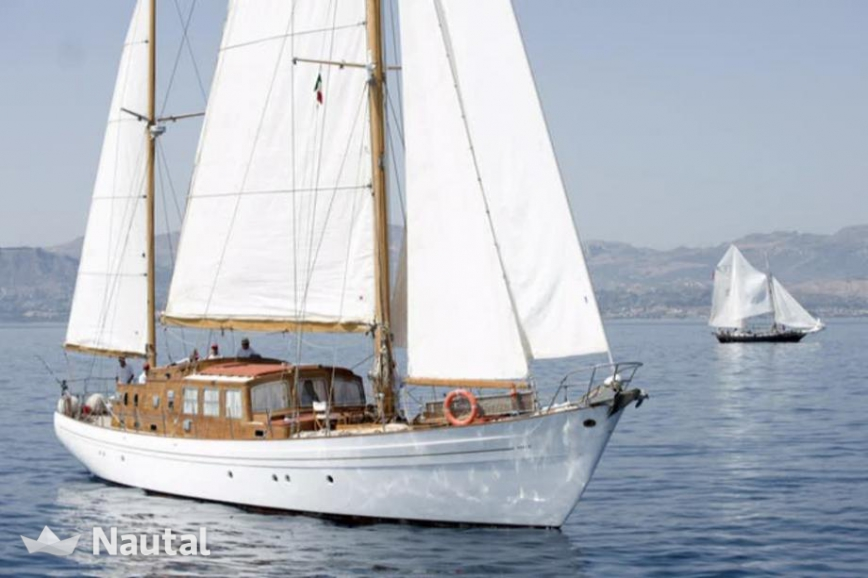 Ketch Marconi port de Cannes Nautal