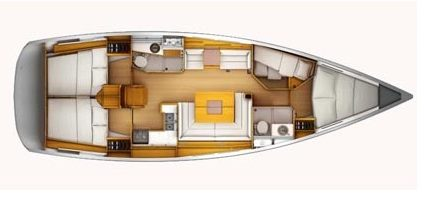 Sun Odyssey 439 is an ideal sailboat for Martinique