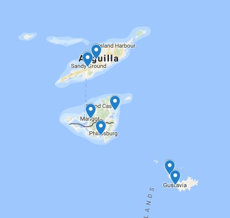 Look at the best route for sailing St Martin