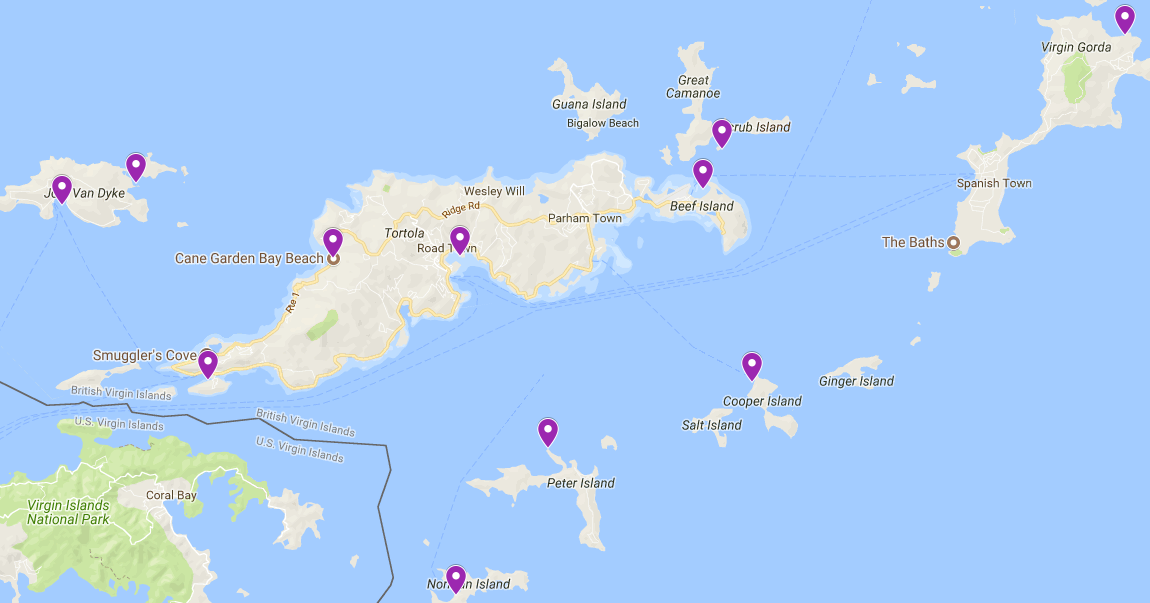 BVI sailing route destinations