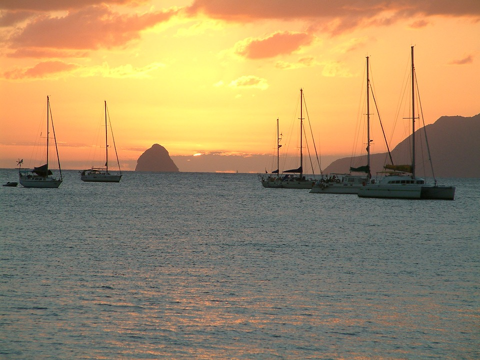 Sunset in the Windward islands