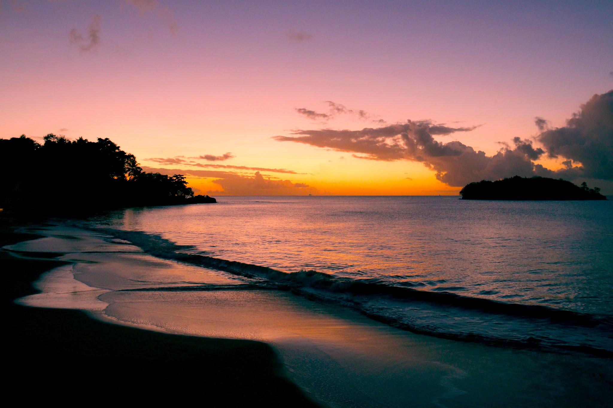 Sunrise in Saint Lucia