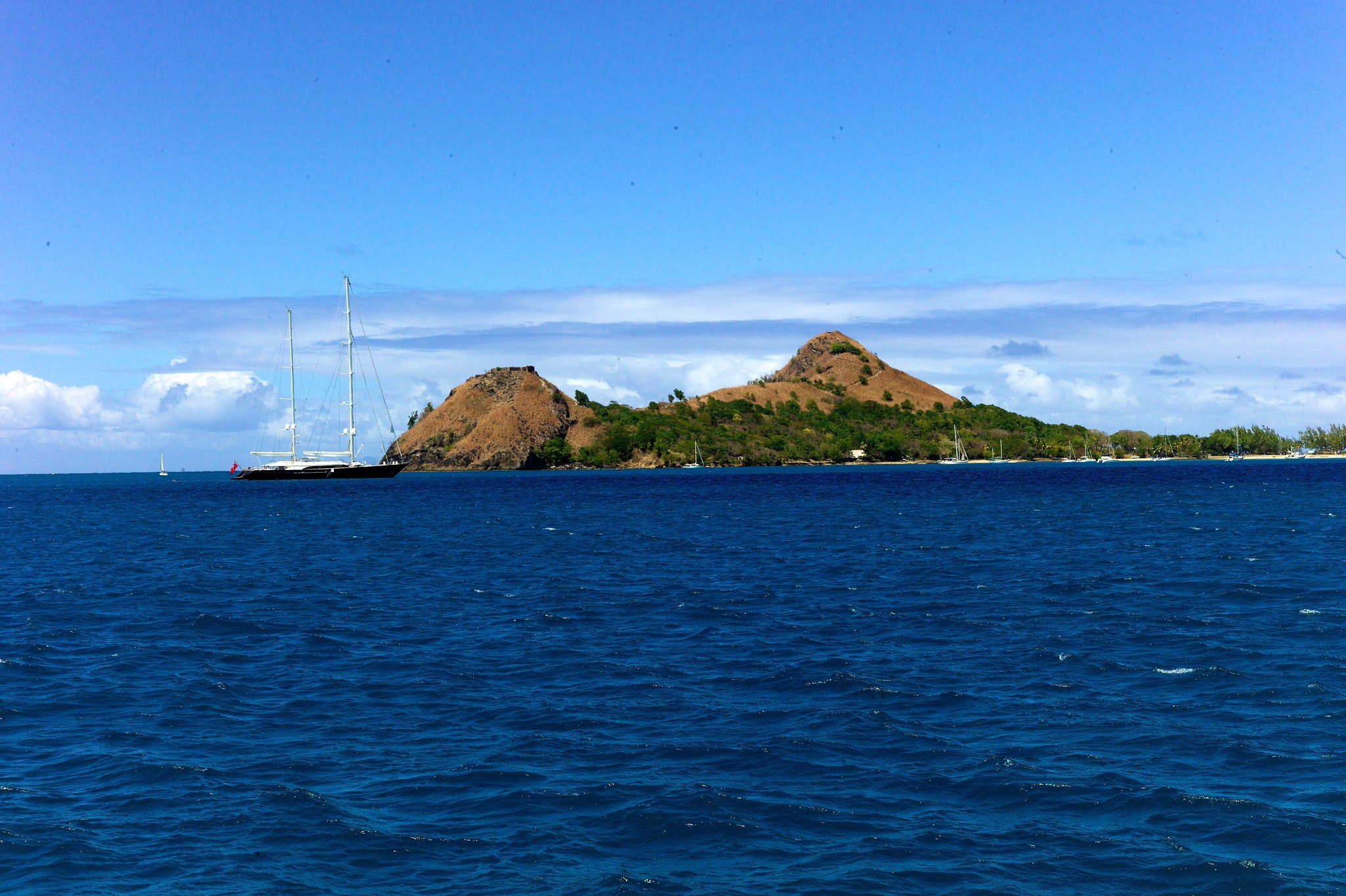 Photo taken of Saint Lucia island while sailing