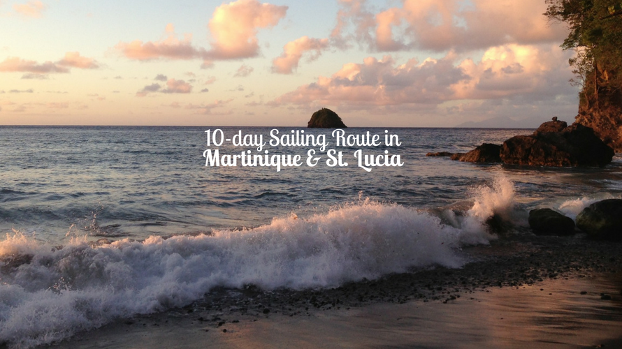 Sailing route in saint lucia and martinique
