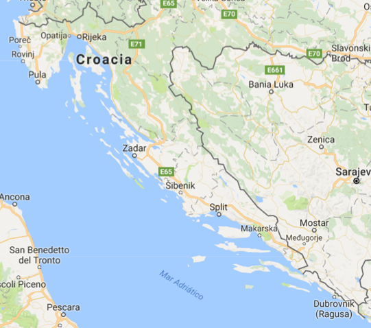 Sail Croatia map