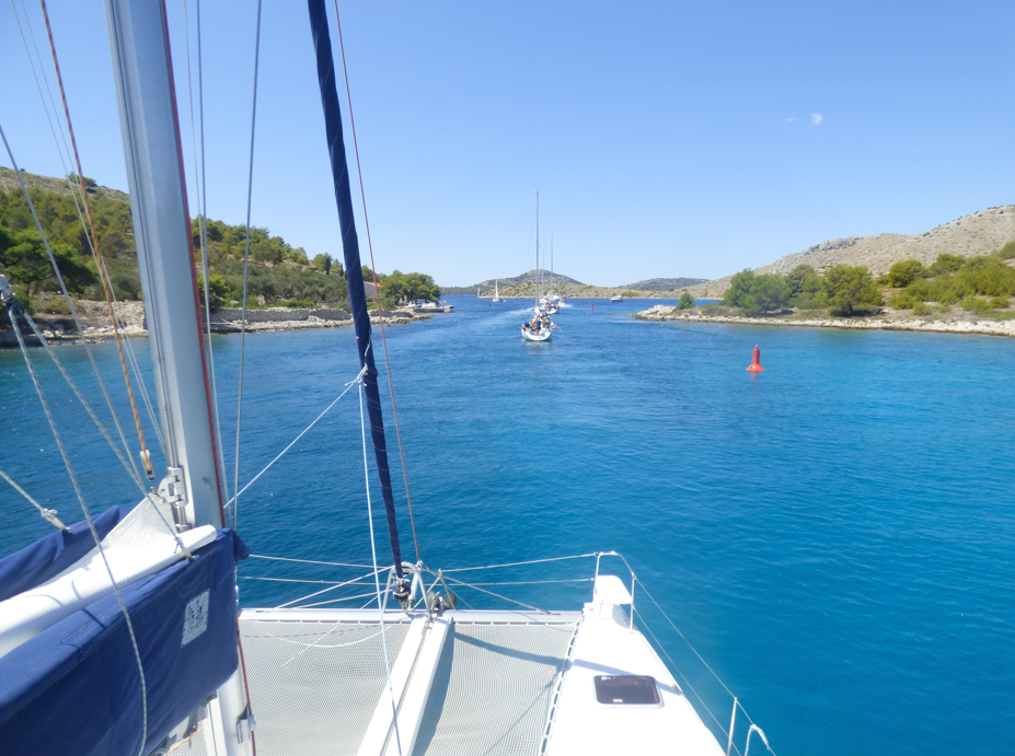 Sailing Croatia on the catamaran