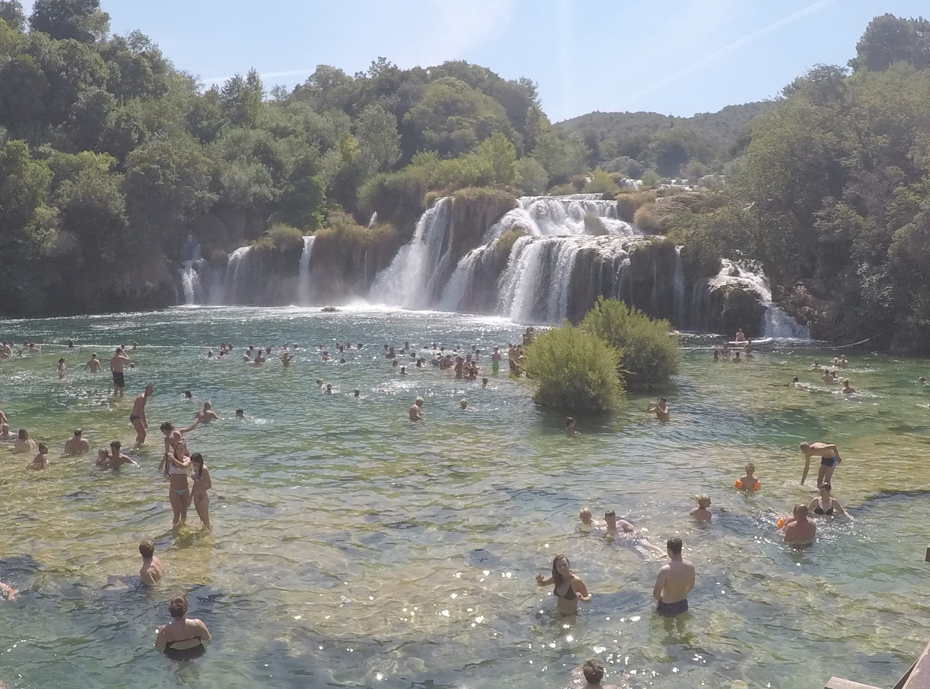 Krka waterfalls in Croatia