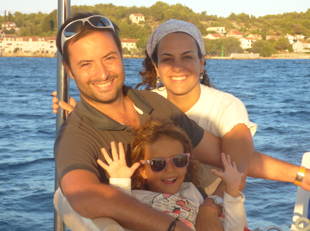 Family on our sail Croatia trip