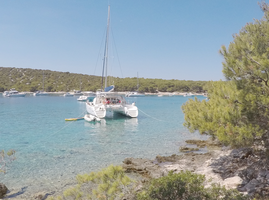 Catamaran in Kroatië