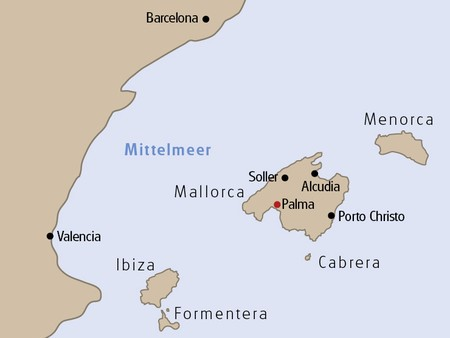 Location of Majorca