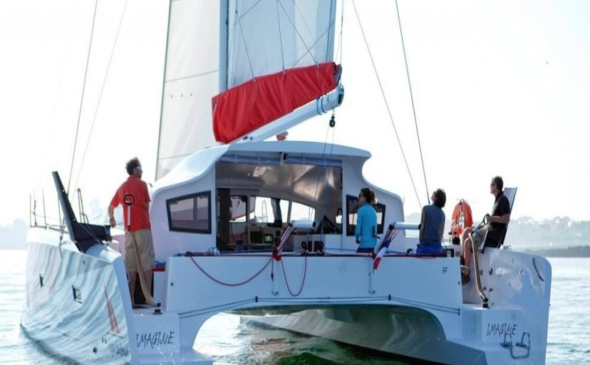 The aft deck of XL Catamaran TS 42 is great for sailing in Martinique