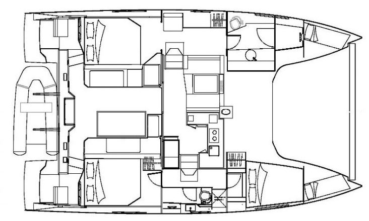The Nautitech Open TS 42 will have all features to secure a great sailing holiday in Martinique