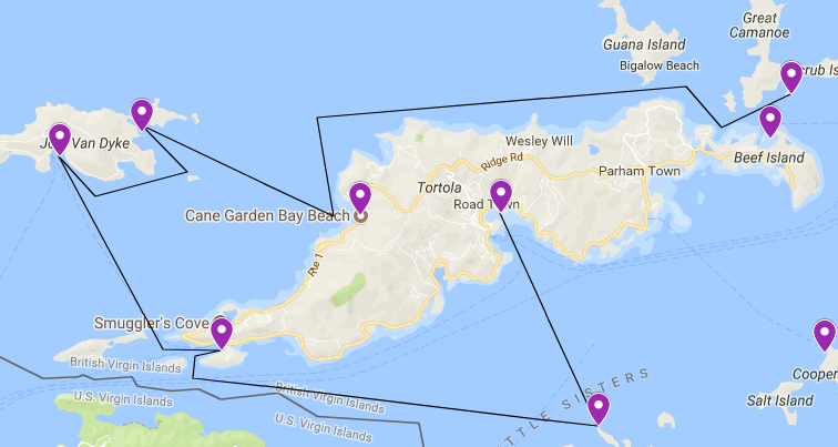 Start your BVI sailing itinerary in Road Town