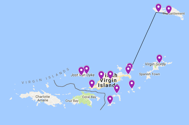 Your BVI sailing route