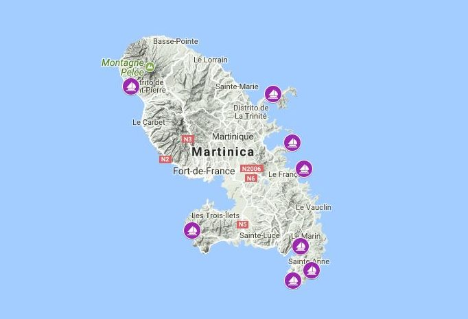 Martinique sailing route