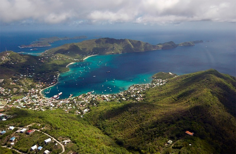 A bird's eye view of Martinique and Saint Lucia