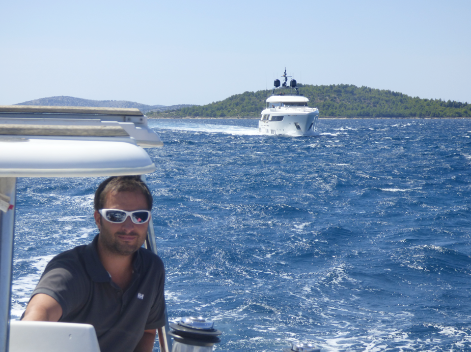 Navigating on our sailing route in Croatia