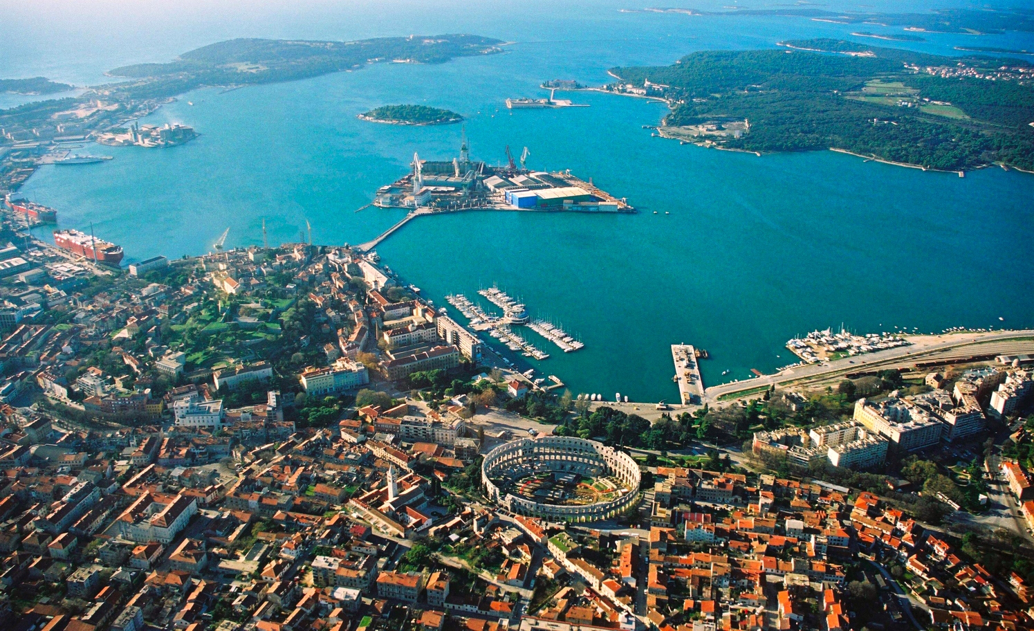 sailing istria routes starts in Pula