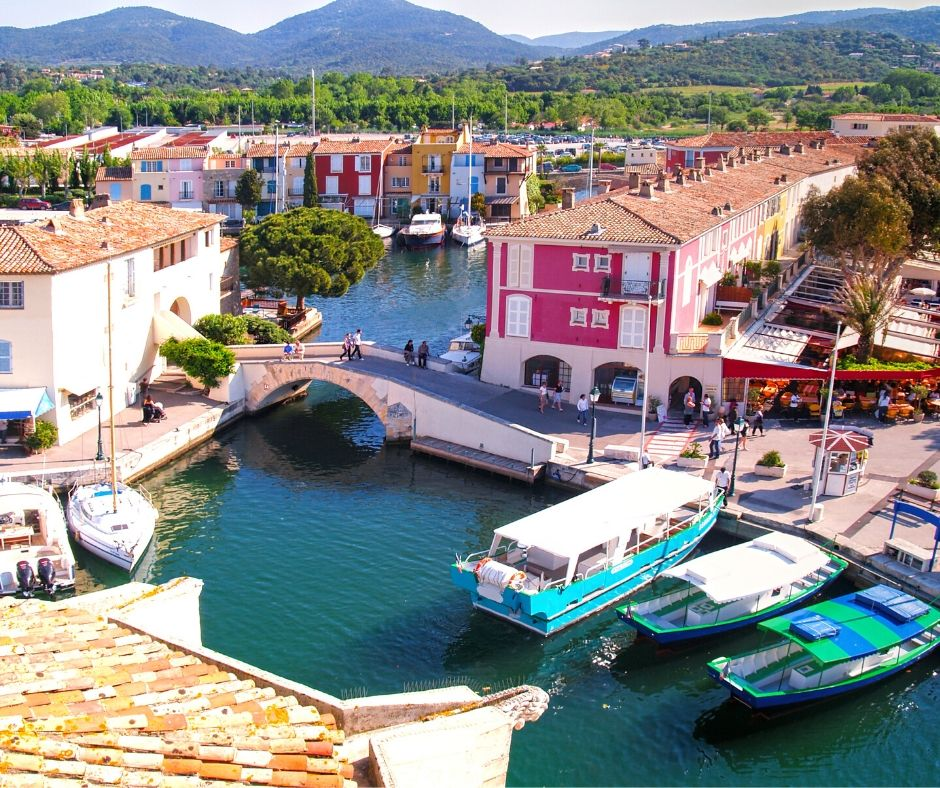 Boats in Grimaud, France