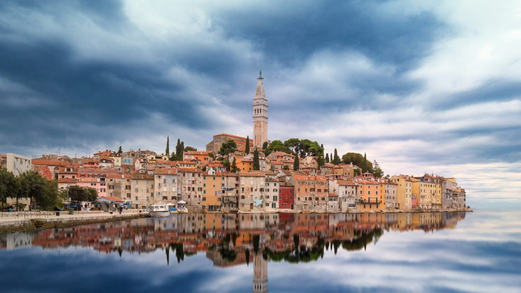 istrian reflection in the water