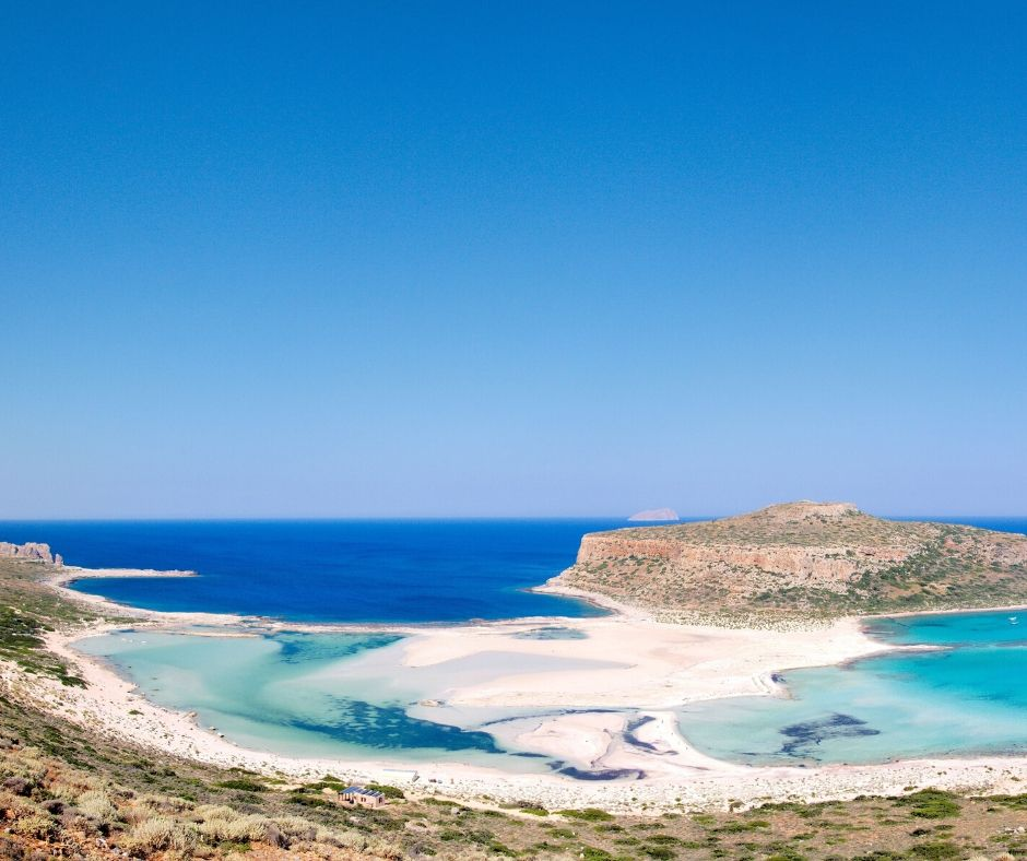 Balos, known as the lagoon of Chania.