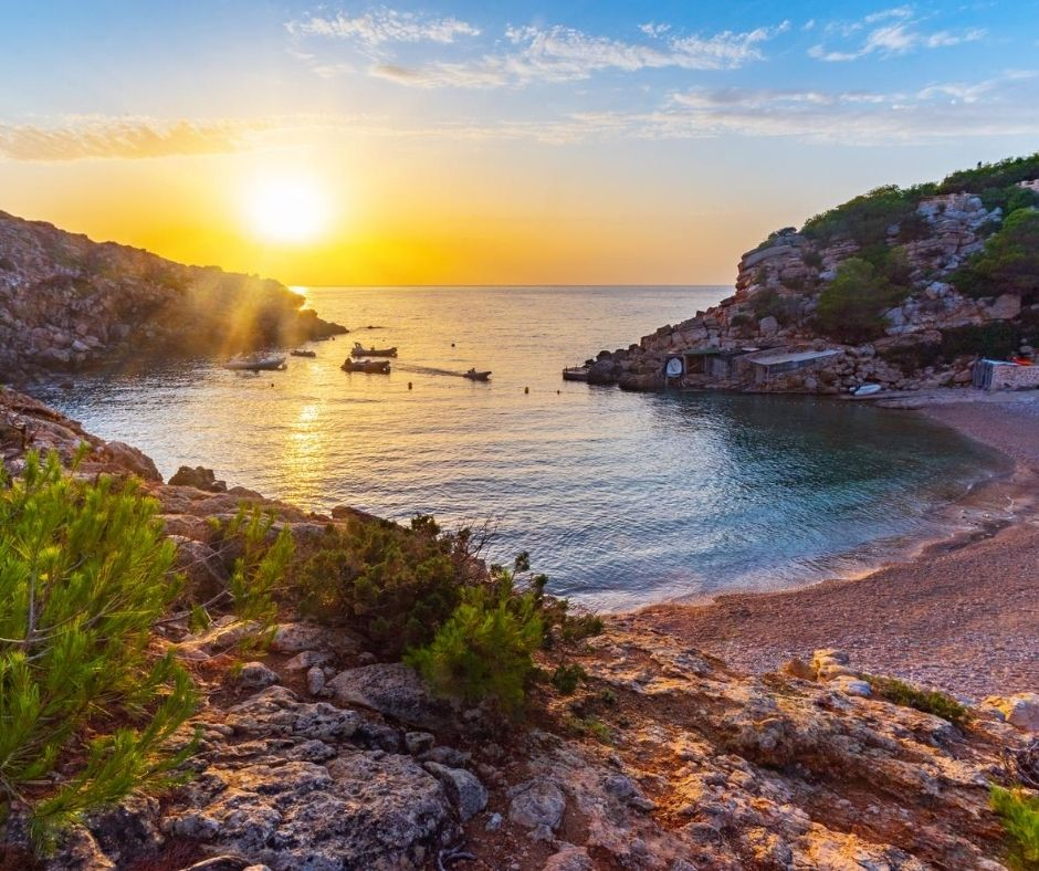 Cala Carbó is probably one of the smallest and most secluded in ibiza