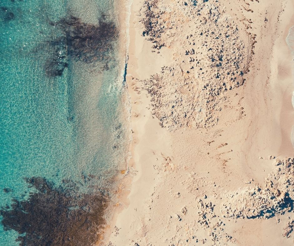 Aereal view of Formentera