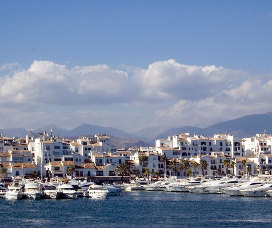 many boats and yachts in the port of Marbella