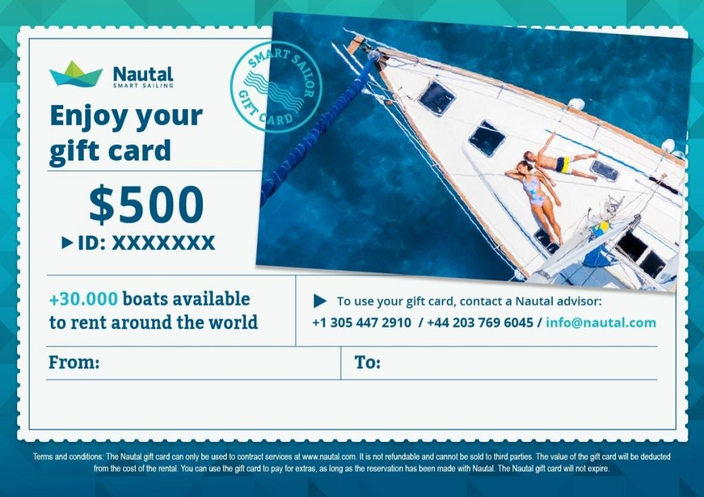 Gift Card for sailors from Nautal