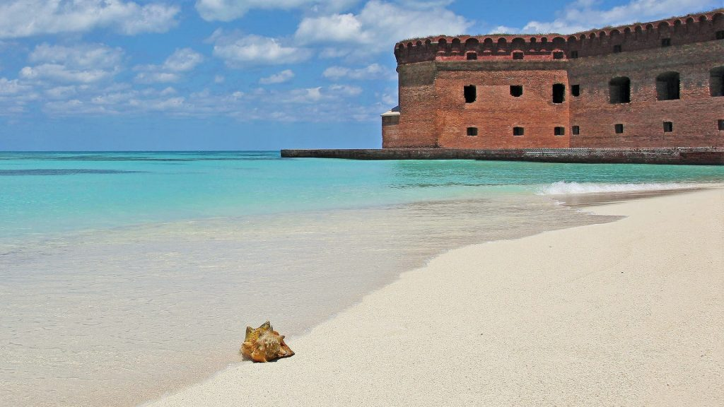 Fort Zachary Taylor Historic State Park and beach - prime snorkeling destination