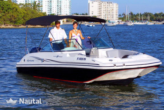 Motorboat rent Custom 20' in Miami Beach, South Florida