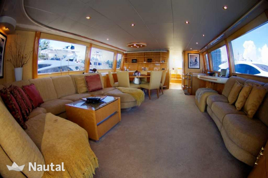 Yacht rent Lazzara  76' in Miami Beach, South Florida