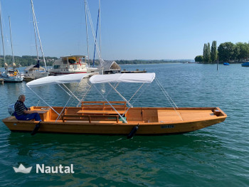 License free boat rent Witti Fährboot 7 Meter in Steckborn, Lake Constance