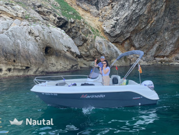 License free boat rent Marinello 16 fisher in Port de L'Estartit, Girona