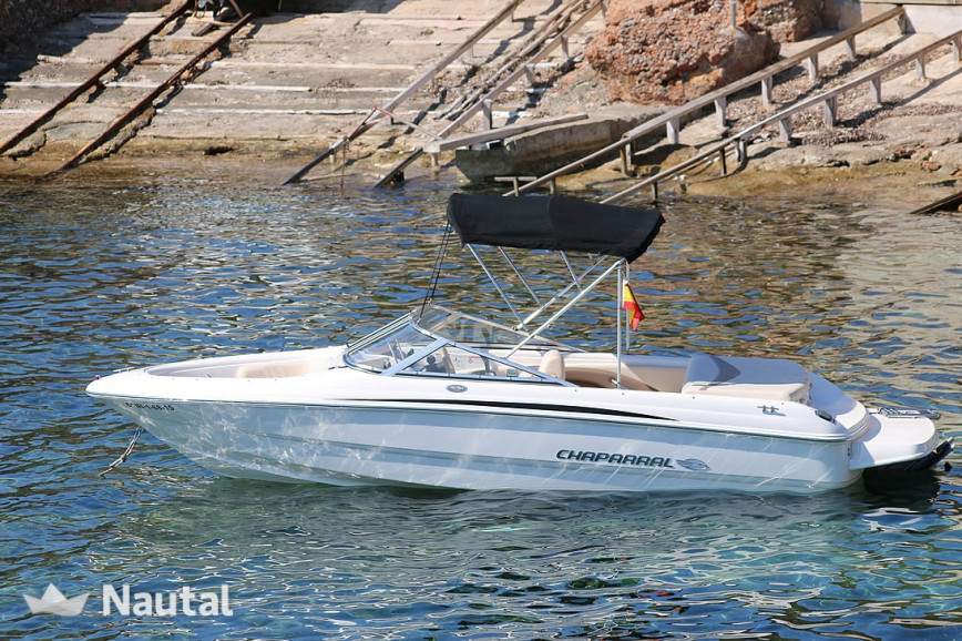 Motorboat rent Chaparral 180 SSI in Ses Salines, Ibiza