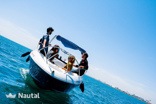 Motorboat rent Quicksilver 555 COMMANDER in Pobla de Farnals, Valencia