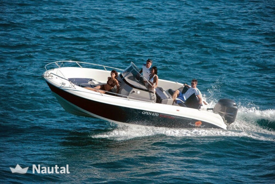 Motorboat rent Pacific Craft 670 in Port de Sant Antoni, Ibiza