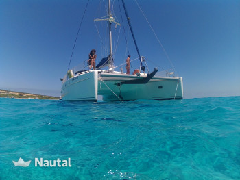 Catamaran rent Fontaine Pajot Belice 43 in Port de Sant Antoni, Ibiza
