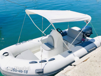 License free boat rent Protender BOSTON 400 in Puerto de Palma, Mallorca