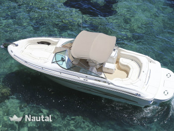 Discover the coast of Ibiza in a Sea Ray motorboat