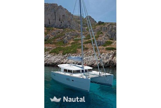 Catamaran rent Lagoon  400 S2 Skippered in Port of Paros, Paros