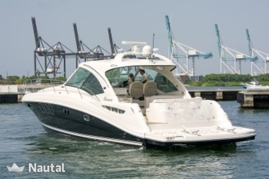 Motorboat rent Sea Ray 48 ft Sea Ray Sundancer in Downtown Miami, South Florida