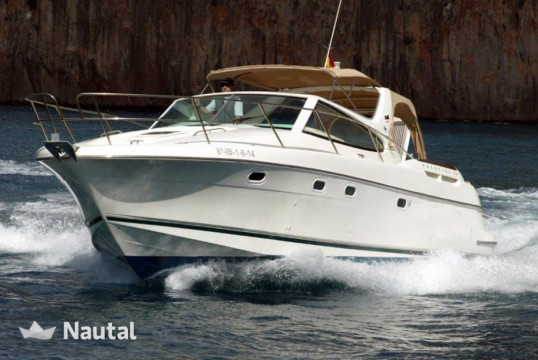 Motorboat rent Jeanneau Prestige 34 in Port de Sant Antoni, Ibiza