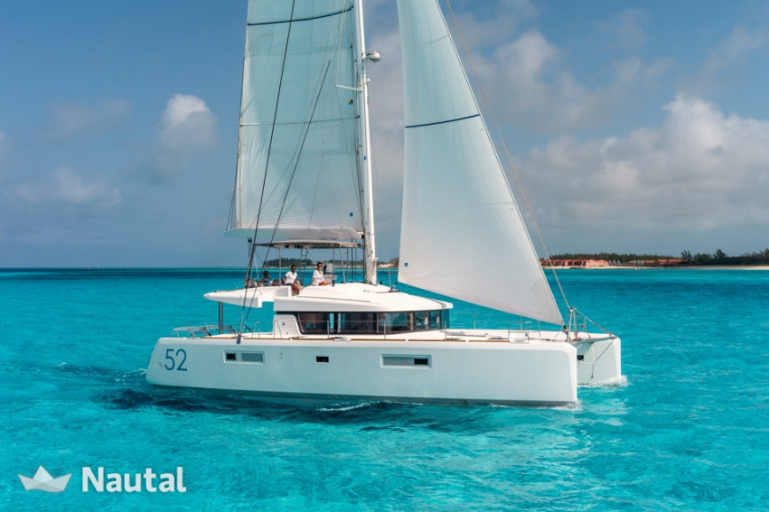 Catamaran rent Lagoon  52 F Skippered .O.V. with watermaker & A/C - PLUS in Portu Valincu, Southern Corsica - Propriano