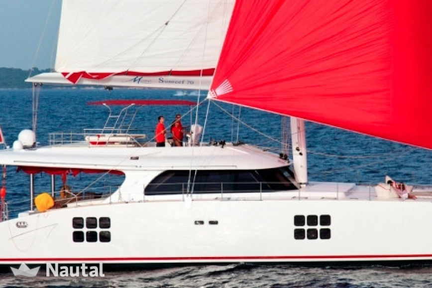 Catamaran rent Sunreef Yachts Sunreef 70 Crewed in Port Pin Rolland, Var - Toulon