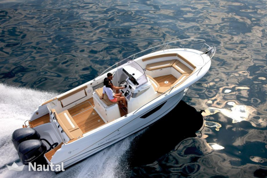 Motorboat rent Jeanneau Cap Camarat 8 5 CC in Port d'Eivissa