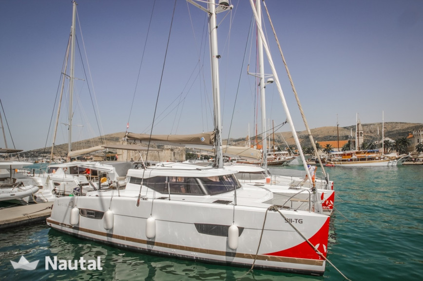 Catamaran rent Fountaine Pajot Lucia 40 FP in Port Trogir, Split, Hvar
