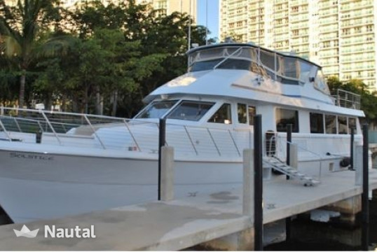Yacht rent Hatterras 80ft in Downtown Miami, South Florida